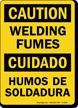 Bilingual Welding Fumes Humos De Soldadura Sign