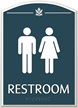Restroom Male Female Braille Sign