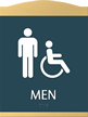 Men/ISA Handicapped Graphic and Braille Sign