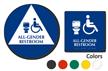 California All-Gender Restroom ISA Symbol, 2 Signs/Kit