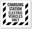 Charging Station, Electric Vehicles Parking Only Stencil