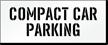 Compact Car Parking Lot Stencil