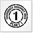 Custom Emergency Assembly Area Sign Stencil