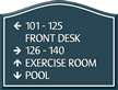 Santera HT Directional Sign w/Border, 9 in. x 11.875 in.