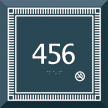 Custom Azteca Room Number Braille Sign with Border, 5.5