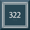Azteca Room Number Braille Sign with Border, 5.5