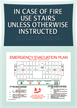 Emergency Evacuation Plan Sign