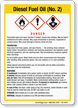 Diesel Fuel Oil No. 2 Chemical GHS Sign