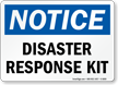Disaster Response Kit OSHA Notice Sign