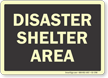 Disaster Shelter Area Evacuation Sign
