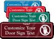 Do Not Block Door Symbol Sign