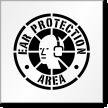 Ear Protection Area Floor Stencil