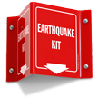 Earthquake Kit Projecting Sign