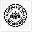 Emergency Evacuation Assembly Area Stencil