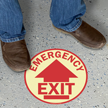 Emergency Exit Circular Glow Floor Sign
