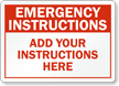 Custom Emergency Instructions Sign