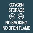 Oxygen Storage, No Smoking/Open Flame Sign