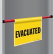 Evacuated Door Barricade Sign