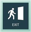 Exit w/Man/Door Symbol