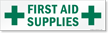Magnetic Cabinet Label: First Aid Supplies