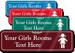 Girls Room Symbol Sign