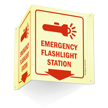 Emergency Flashlight Station Sign