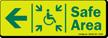 GlowSmart™ Directional Exit Sign, Handicap Area Sign