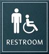 Restroom, Men/Handicapped, 8.625 in. x 7.75 in. Sign