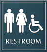 Restroom Unisex Handicapped Sign