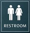 Restroom, Unisex, 8.625 in. x 7.75 in. Sign
