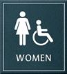 Women Bathroom, Women/Handicapped Sign