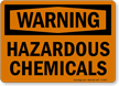 Warning Hazardous Chemicals Sign