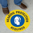 Hearing Protection Required SlipSafe Floor Sign