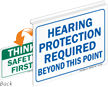 Hearing Protection Required Safety First Sign