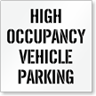 High Occupancy Vehicle Parking, Parking Lot Stencil