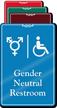 Handicap Gender Neutral Symbol Restroom ShowCase Sign
