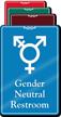 Gender Neutral Symbol Restroom ShowCase Sign