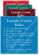 Laundry Center Rules Sign