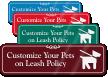 Pets on Leash Symbol Sign