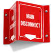 Main Disconnect Projecting Sign