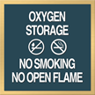 Oxygen Storage. No Smoking. No Flame Sign