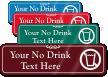 No Drink Symbol Sign