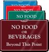 No Food Beverages Beyond Sign