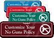 No Guns Symbol Sign