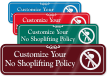 No Shoplifting Symbol Sign