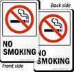 No Smoking TwinCal™ 2-Sided Window Decals