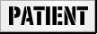 Patient Parking Stencil
