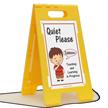 Quiet Please, Teaching Learning In Progress Floor Sign