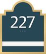 1 Slot Room Sign, raised number braille