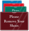 Remove Your Shoes Showcase Wall Sign